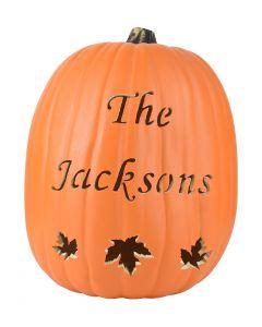 Leaves Script Font Custom Pumpkin