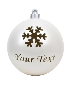 Snowflake Custom Ornament