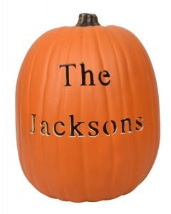 Block Font Custom Pumpkin