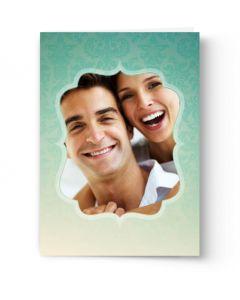 Aqua Damask Card