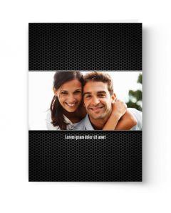 Black Grid Card
