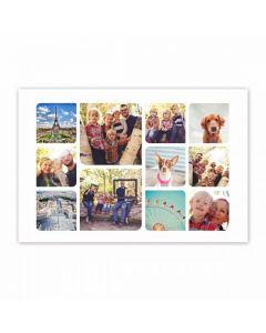 Round Corners Collage Print