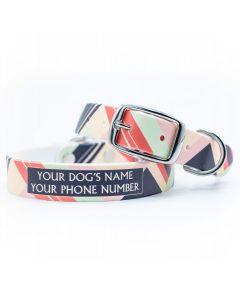 Color Block Warm Dog Collar