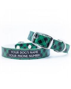 Lumberjack Forest Green Dog Collar