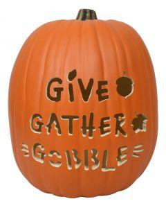 Give Gather Gobble Custom Pumpkin