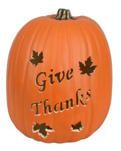 Give Thanks Custom Pumpkin