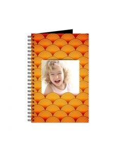 Orange Retro Circles Journal