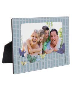Plaid Blooms Photo Panel