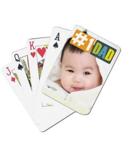 #1 Dad Custom Playing Cards