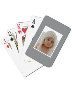Grey Custom Playing Cards