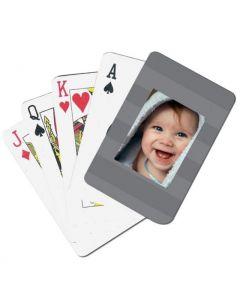 Grey Stripes Custom Playing Cards