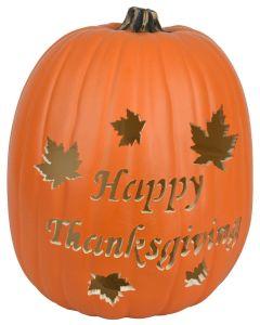 Happy Thanksgiving Custom Pumpkin