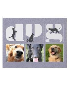 D-O-G Wrapped Canvas Print