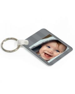 Grey Stripes Keytag