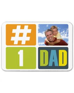 #1 Dad 2.5X3.5 Magnet