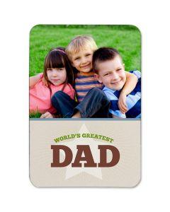 World's Greatest Dad 3.5X5 Magnet