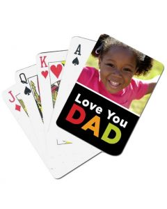 Love You Dad Custom Playing Cards