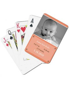 Peach Custom Playing Cards
