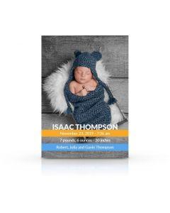 Stripes Birth Announcement Card
